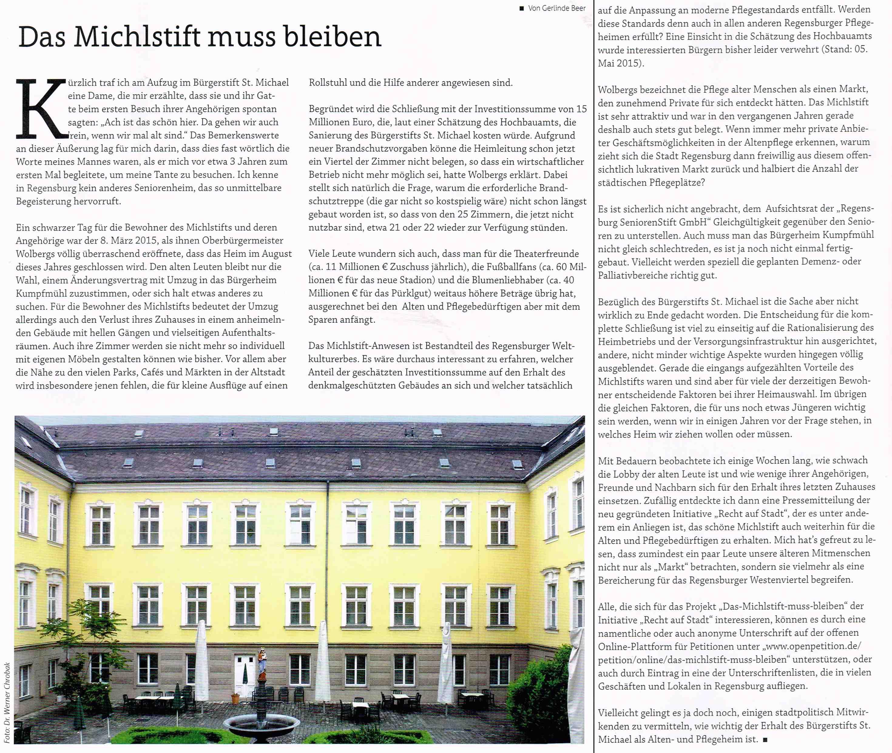 Altstadtbladl Michlstift klein